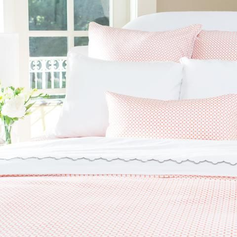 Bedroom inspiration and bedding decor | The Ellis Coral Duvet Cover | Crane and Canopy