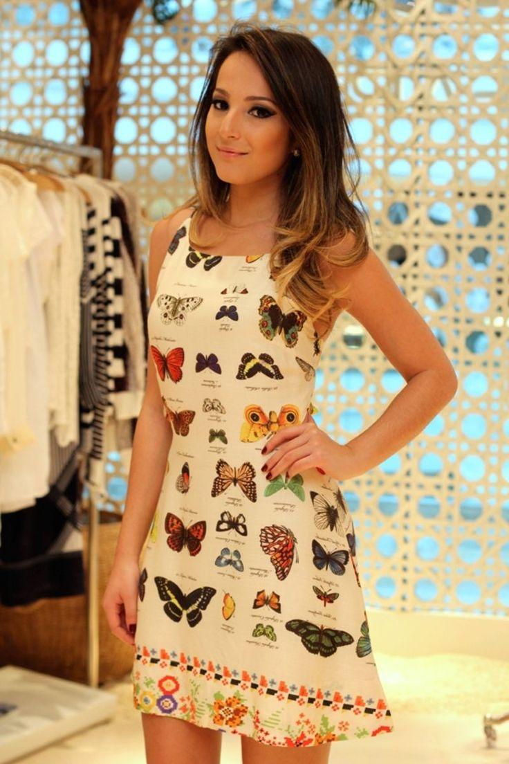vestido curto borbotani - vestidos farm