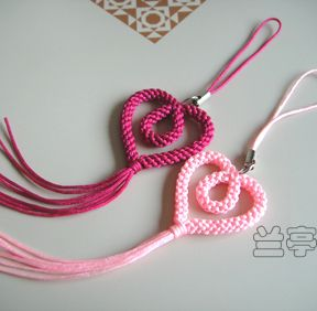 """Innocence"" mobile phone chain - mifor - Lanting knot"