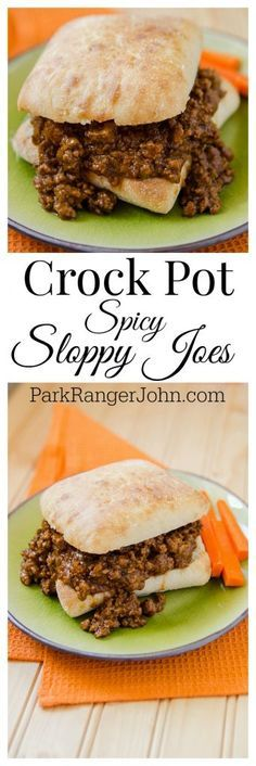 Slow Cooker Crock Pot Spicy Sloppy Joes Recipe! The perfect comfort food for a crowd. This is hands down the best slow cooker Crock Pot Sloppy Joes Recipe ever! It is an easy to makehomemade recipe that will have everyone who loves a little spice in their life coming back for more!