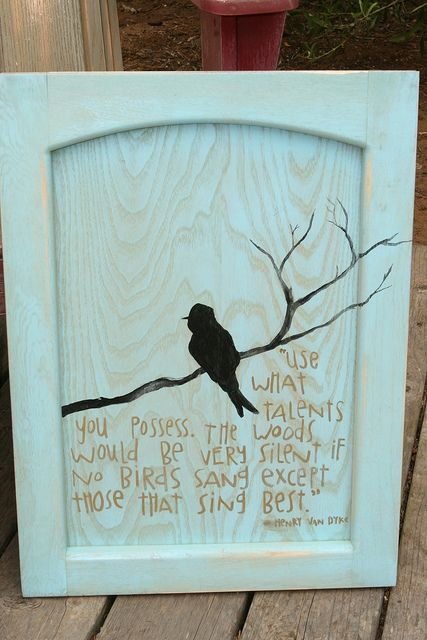 Rustic Wall Art From Cabinet Door Weathered Look For The Finish And A Simple Image And Phrase And You Have A Real Conversation Piece