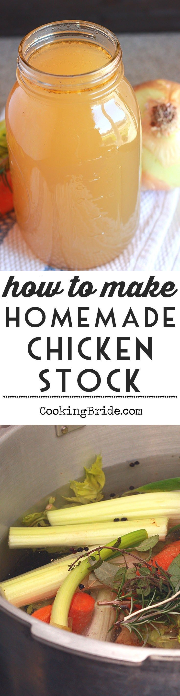 Don't waste your money on store brand chicken stock. Making your chicken stock and home is easy, delicious, and saves money.