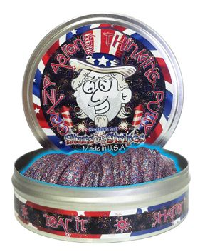 At MACkite: Crazy Aaron's Thinking Putty // Holiday Colors // Stars and Stripes