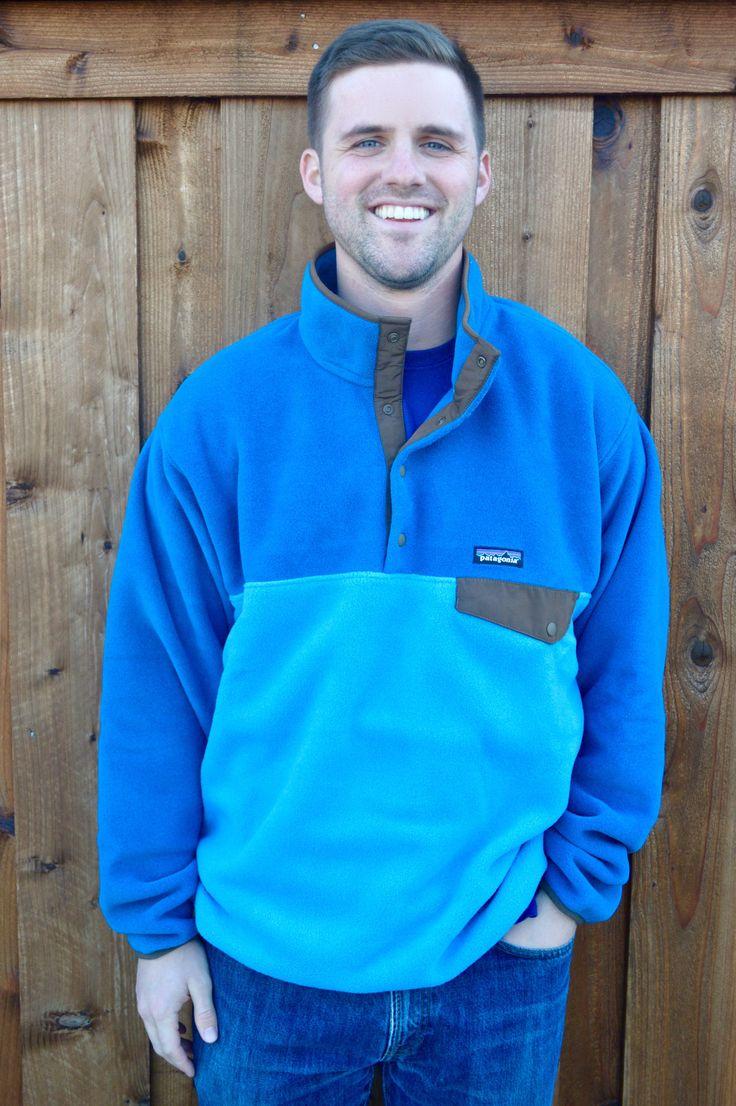 Patagonia Men's Lightweight Synchilla Snap-T Pullover- Underwater Blue