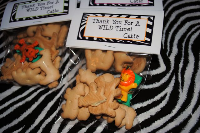 Favors at  a Jungle Party #jungle #partyfavors