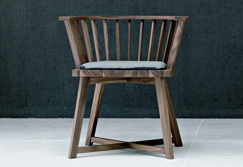 oak chair for gervasoni