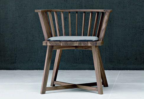 oak chair for gervasoni