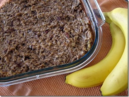 Baked banana coconut oatmeal -- healthy filling breakfast for a crowd!: Butter Fingers, Baking Bananas, Bananas Coconut, Baked Oatmeal, Baking Oatmeal, Pecans Coconut, Healthy Fillings Breakfast, Bananas Pecans, Coconut Baking