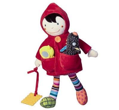 Caperucita roja con todos sus amigos y accesorios, maravillosa muñeca de gran calida.