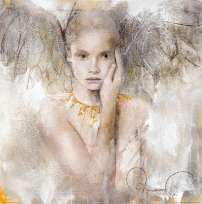 This was such a beautiful angelic fairy-ish fine piece of artwork - I thought of you Jennifer!