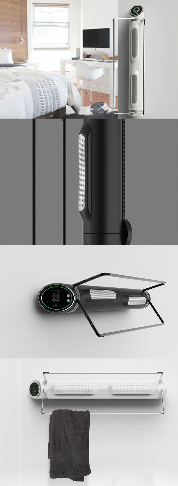 'The Rota' is a dehumidifier that can be used in two different ways, its not just a household appliance to make a pleasant climate but it comes with swiveling racks to hang and quick dry clothes... READ MORE at Yanko Design !