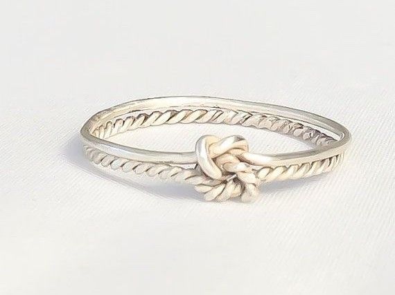 Double Knot Infinity Promise Ring
