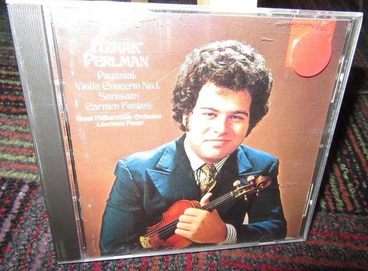 PAGANINI: VIOLIN CONCERTO NO.1 MUSIC CD, SARASATE CARMEN FANTASY PERLMAN, GUC #Concerto