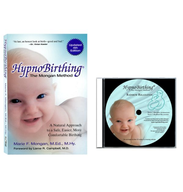 This combination has both our current HypnoBirthing Book:The Mongan Method (4th Edition), along with the purchase of an MP3 download version for our NEW Marie Mongan Rainbow Relaxation version.