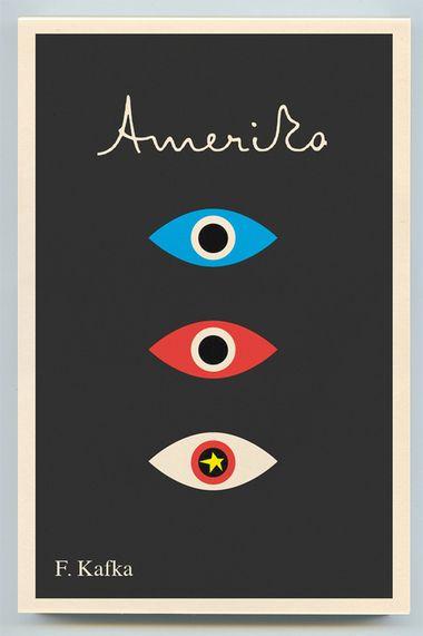 Book cover Franz Kafka – Amerika (Peter Mendelsund)