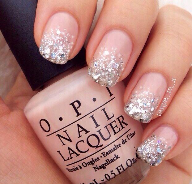 Pink & silver glitter