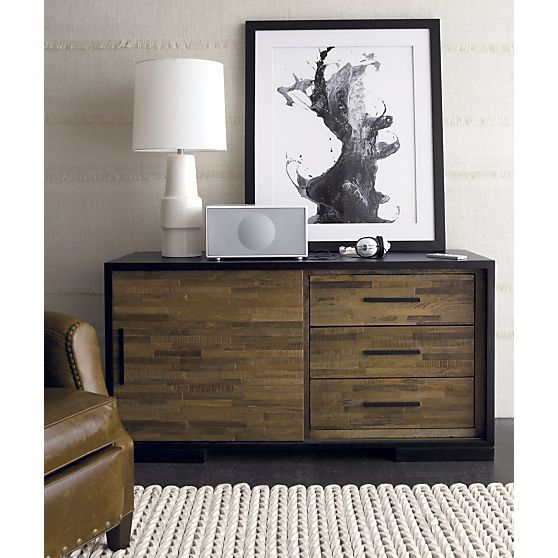 Seguro 54 Media Console in Bedroom Media Storage | Crate and Barrel