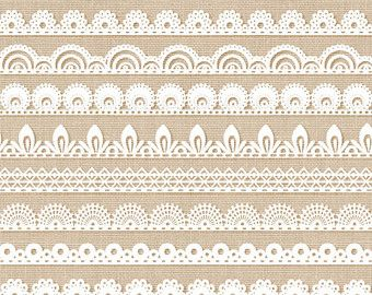 Lace border clipart: LACE BORDERS clipart pack with by MashaStudio