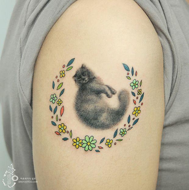 #tattoofriday - tatuagens delicadas sem contorno aquarela - Silo Tattooist;