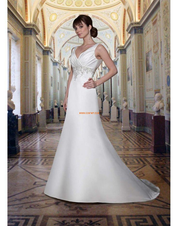 Satin Sleeveless Natural Wedding Dresses 2014