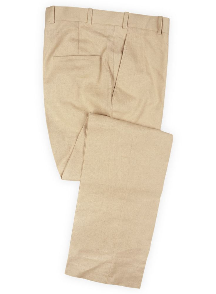 Tropical Beige Linen Pants