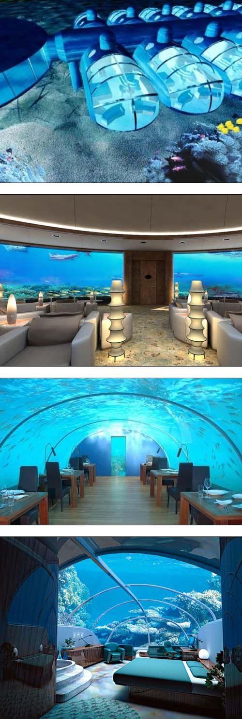 Experience life under the sea at the underwater resort, Poseidon Undersea Resort, Fiji