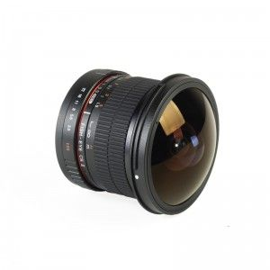 Samyang 8mm f3.5 Aspherical AE IF MC Fish-eye CS II montura Nikon
