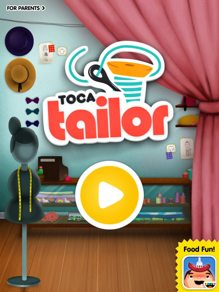 Toca Tailor App - Know any curious kiddos who want to learn how to be doctors, how to cook, how to clean houses, how to cut hair, or even how to sew dresses? Toca Boca can help!  With their amazing apps, Toca Hair, Toca Kitchen, Toca House, Toca Doctor, and Toca Tailor, they make learning life skills so much fun!  http://www.autismpluggedin.com/2013/08/toca-tailor.html