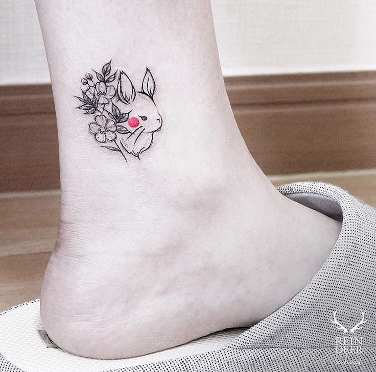 96 best images about tattoo things on pinterest bunny for Small bunny tattoo