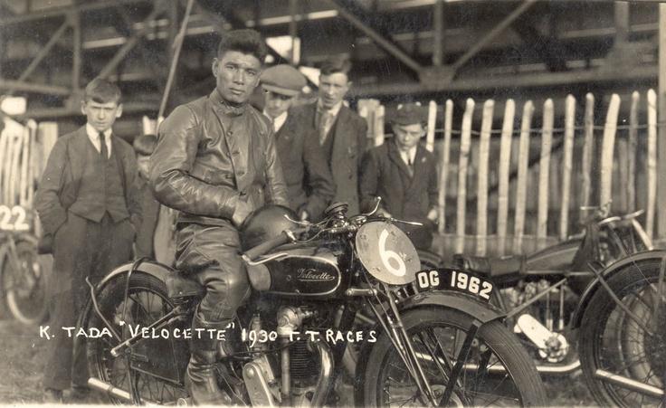 The Vintagent: KENZO TADA  1930 マン島TTレース