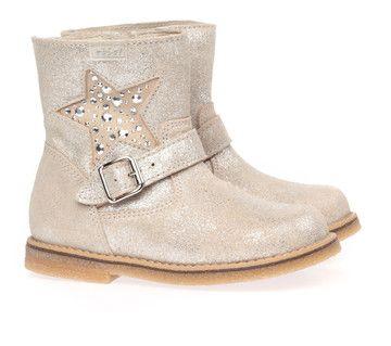 Beige/Witte Clic! kinderschoenen 8336 boots