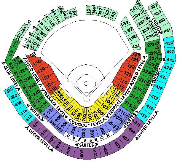 Atlanta Braves Seating Information Suntrust Park Diagram