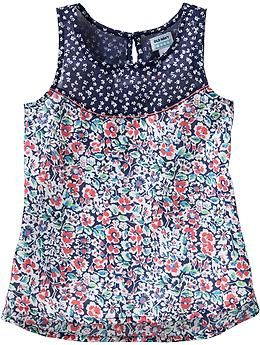Girls Floral Sleeveless Tops