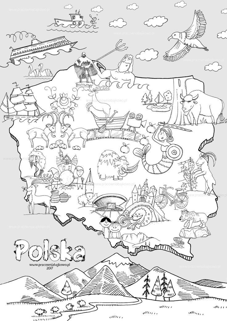 mapa polski 2017 a4