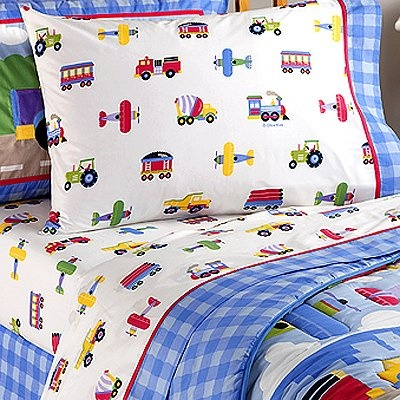 trains planes and trucks full sheetset from olive kids - Kids Full Sheets
