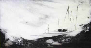 "Saatchi Art Artist Marjan Fahimi; Painting, """"White Storm - I"""" #art"