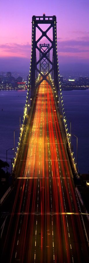 Old Bay Bridge, San Francisco, California.  Go to www.YourTravelVideos.com or just click on photo for home videos and much more on sites like this.