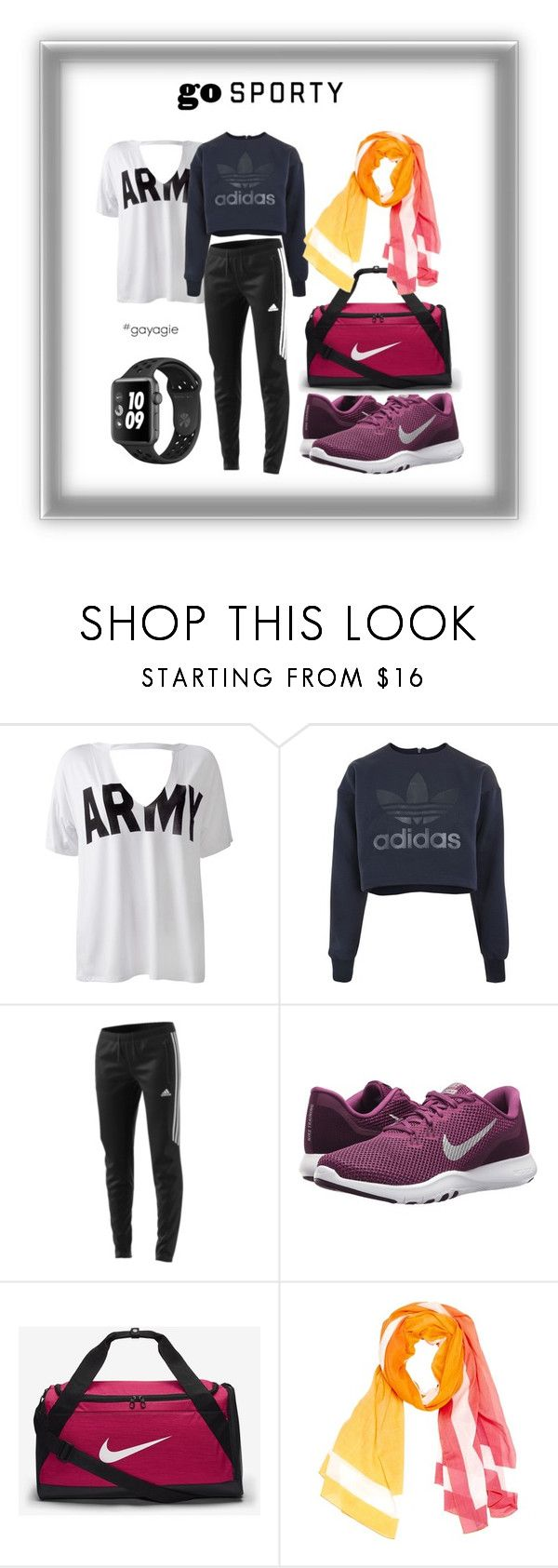 """""""Go Sporty for Hijabers"""" by anggiswastika on Polyvore featuring Sans Souci, adidas, NIKE, Hermès and gayagie"""