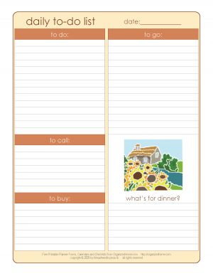 Bring peace and order to your organized home with these free printable calendars, planning pages and cleaning checklists for your household notebook.
