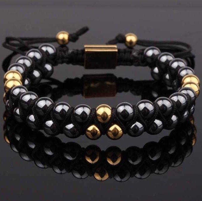 PRE-ORDER Hematite Double Beaded Bracelet 6mm