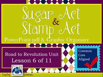 Sugar Act and Stamp Act PowerPoint Presentation and Graphi