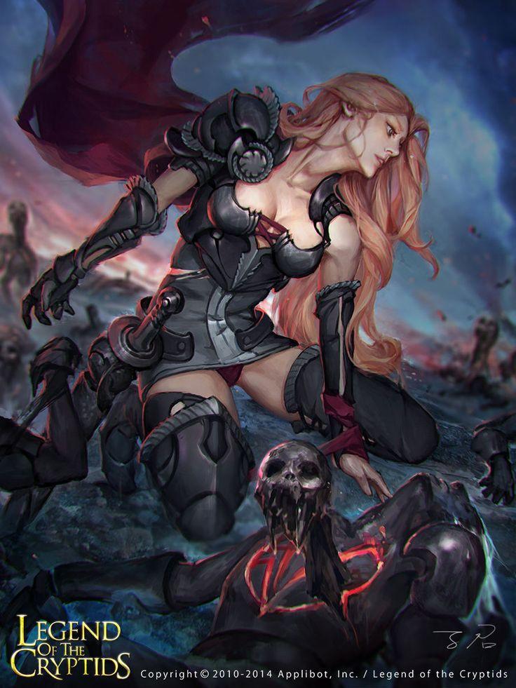 Artist: Unknown name aka zinnaDu - Title: Unknown - Card: Mercenary Leader Gladys