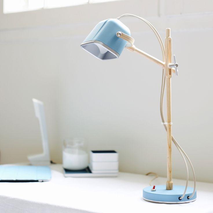 lampe poser fr ne bleu h50cm mob bureaux. Black Bedroom Furniture Sets. Home Design Ideas