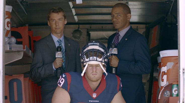 Check out Texans star J.J. Watt's new series of Gatorade commercials