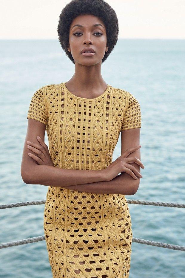 Jourdan Dunn como você nunca viu na Vogue Brasil de fevereiro