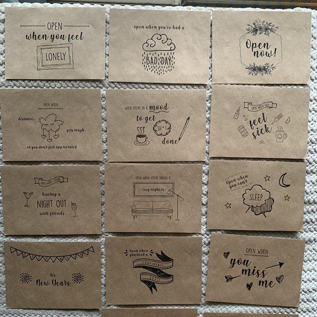 Set of Open When Letters Valentine/'s Gift For Boyfriend or Girlfriend