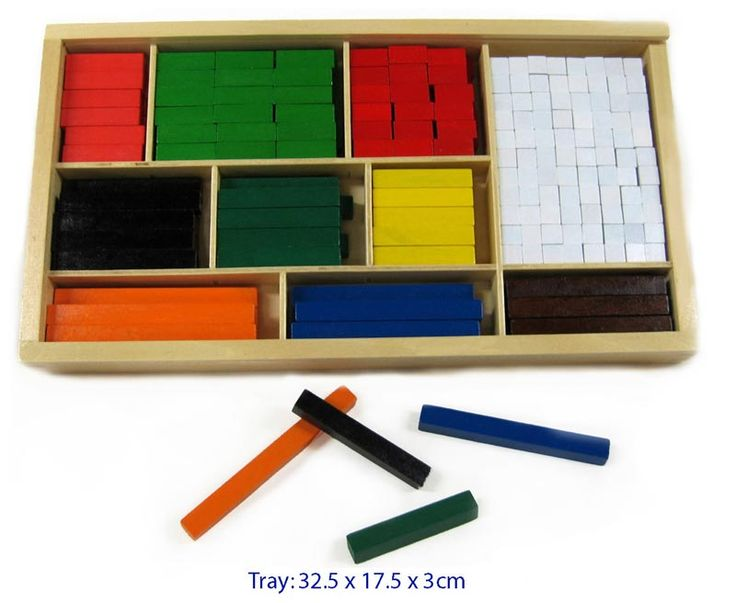 Cuisenaire Rods 300 pce set     Cuisenaire Rods - 300 piece set Mathmatics Teaching Aid - $25 Contains 10 different colour coded rods. Teaches counting, addition, subtraction and multiples Case size 32.5cm x 18cm x 3.6cm deep With clear acrylic slide on lid 3yrs +