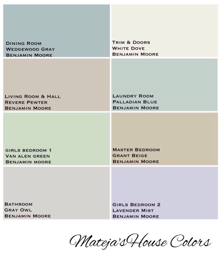 House Colors Benjamin Moore Revere Pewter White Dove