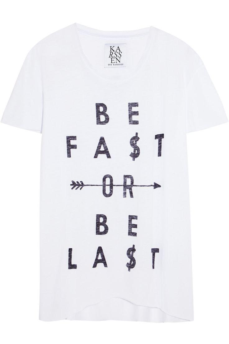 Zoe KarssenBe Fast printed cotton and modal-blend T-shirt