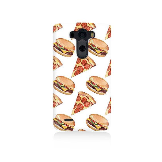Pizza and Burgers Cover LG G3 Case LGG3 cover by VDirectCases